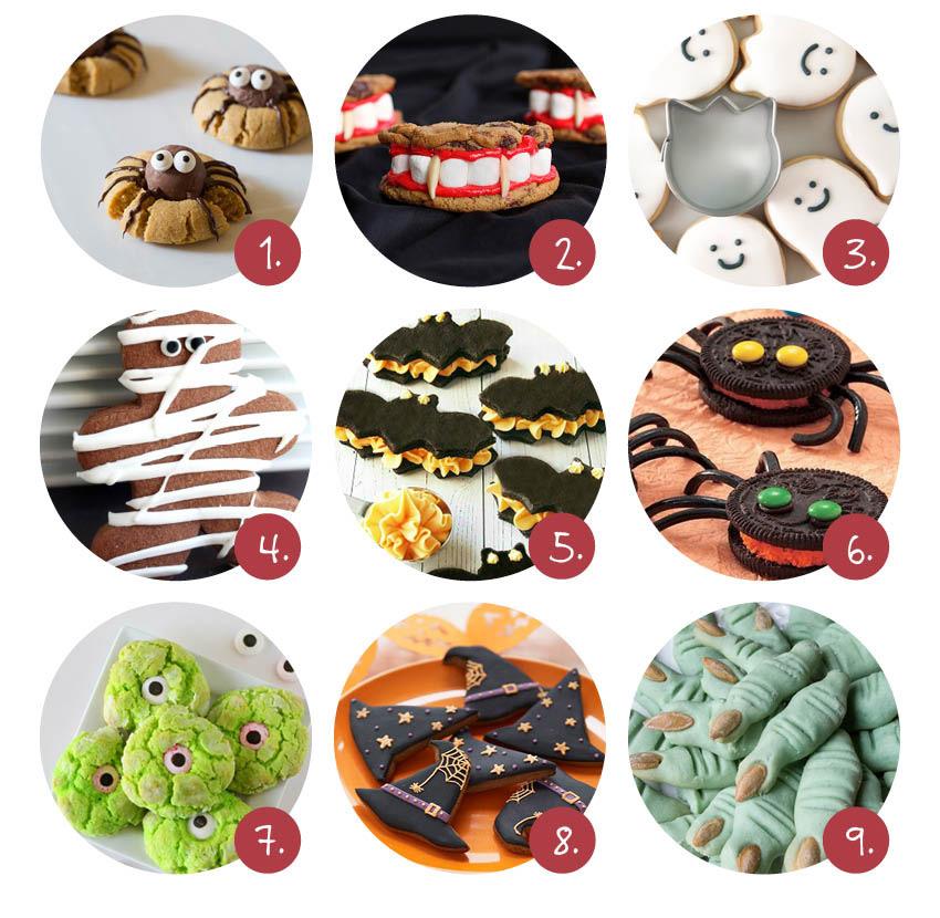 9x Halloween koekjes