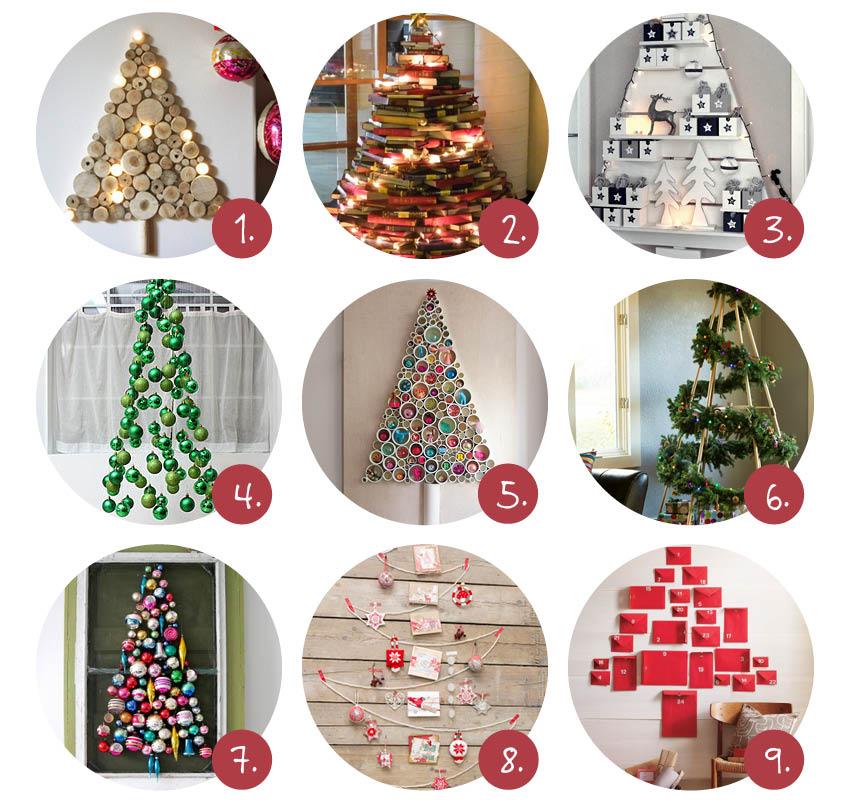 9x alternatieve kerstbomen