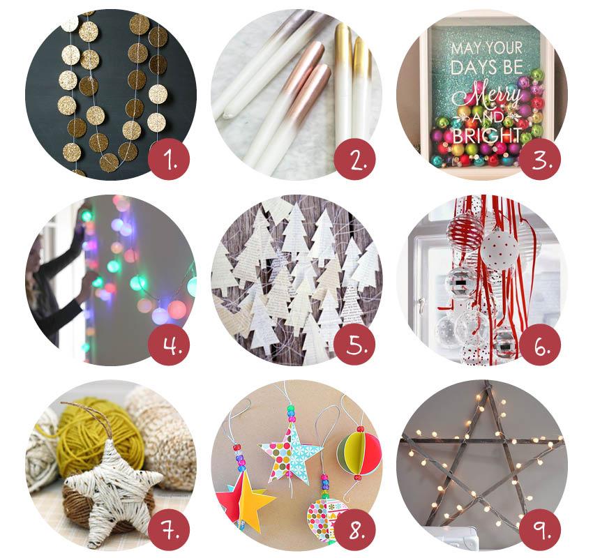 Kerst knutselen, DIY kerstdecoraties