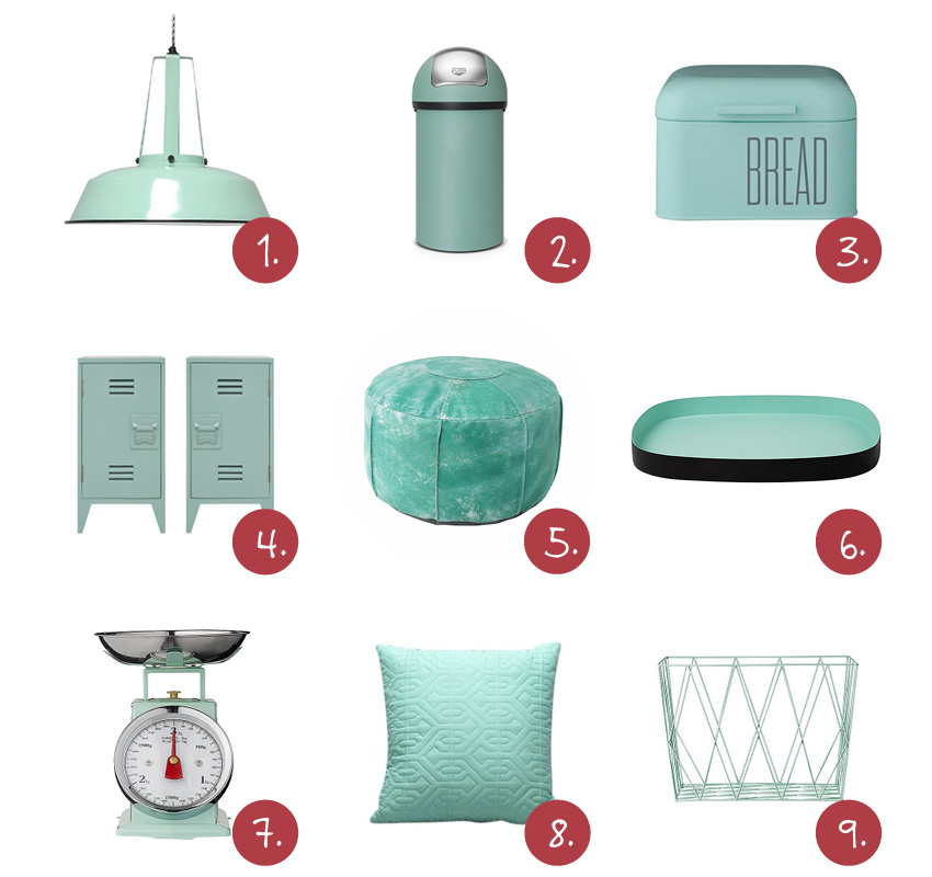 Mintgroene accessoires woonkamer interieur meubilair for Interieur accessoires online