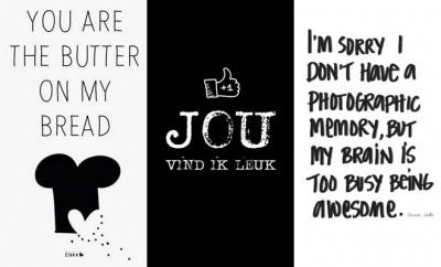 Leuke zwart/wit kaarten