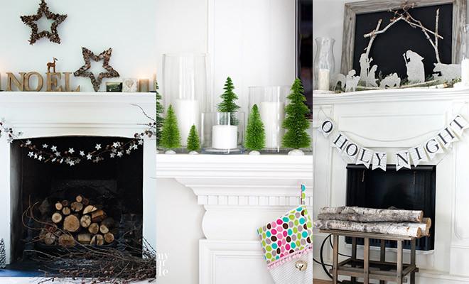 Kerstschouw versieren