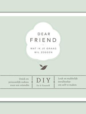 Dear friend, vriendinnenboek Elma van Vliet