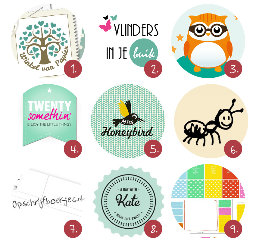 9x stationery webshops