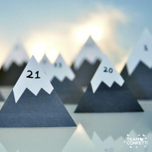 Adventskalender zelf maken: bergen