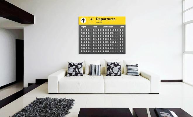 Muurdecoratie Ideeen : Muurdecoratie woonkamer arti