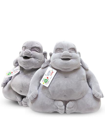 Lachende buddha knuffel