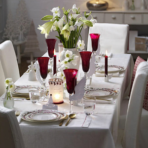 foto prachtig gedekte tafel