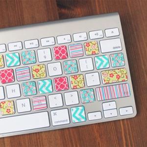 Doen met masking tape: toetsenbord