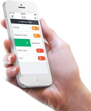 Doelen kun je eenvoudig monitoren met de app Full