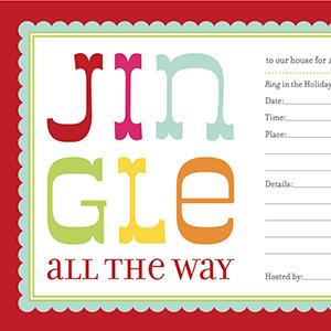 Gratis printables voor kerst:uitnodiging