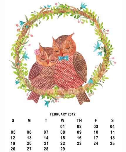 Doe het zelf-kalender met uiltjes