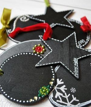 kerst-cadeaulabels krijt
