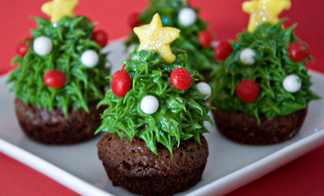 kerstboom brownies