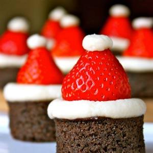 kerst nagerechten: kerstman mutsjes