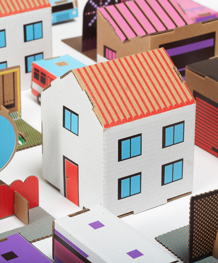how to make a city out of paper