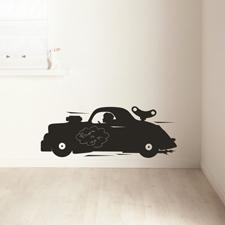 mooiste muurstickers: auto