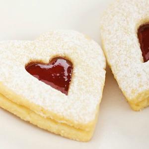 Valentijnsdag koekjes: aardbeienjam