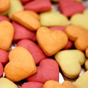 Valentijnsdag koekjes: liefdeskleuren
