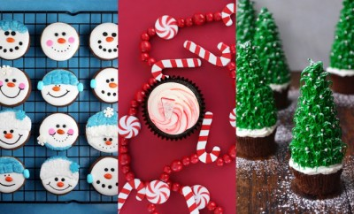 Vrolijke kerst cupcakes maken