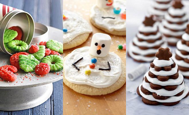 Vrolijke kerstkoekjes