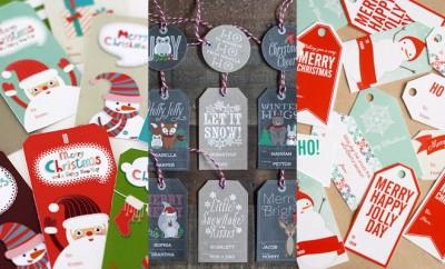 Gratis kerstcadeau labels