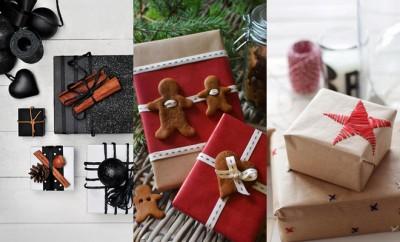 Origineel kerstcadeaus inpakken