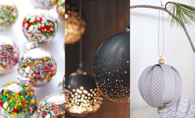 Zelfgemaakte kerstballen