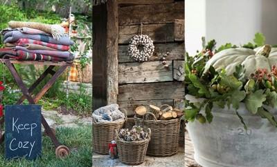 Herfst decoraties tuin