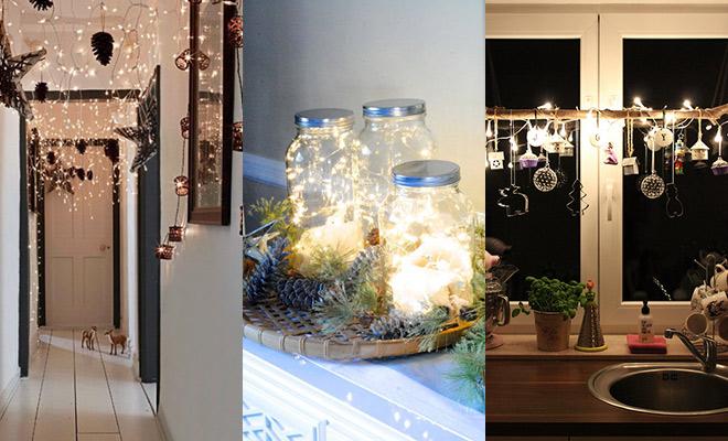 Creatief met kerstlampjes