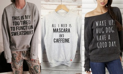 Quote sweaters