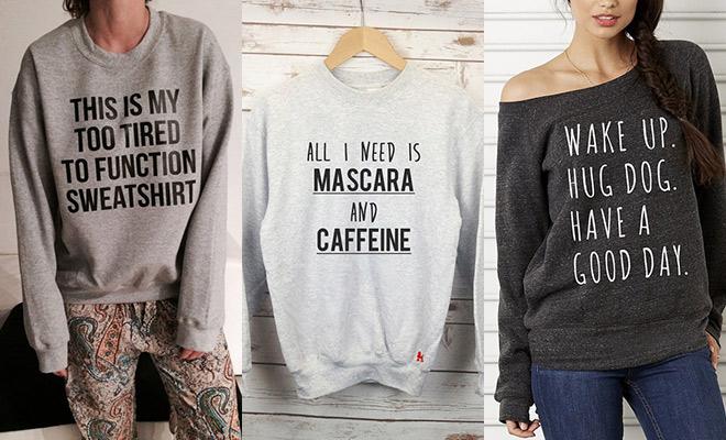 Sweaters | RUMAG. | De leukste quotes op een sweater!