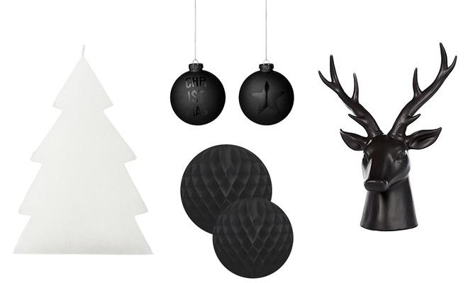 Zwart Wit Kerstdecoraties : Zwart wit kerstdecoraties op een rij like & love it!