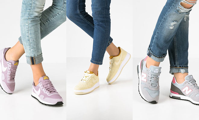 Sneakers in pasteltinten