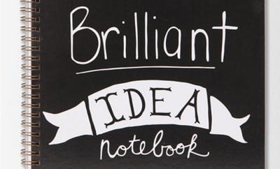 briljante ideeën notitieboek