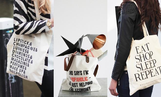 Canvas tassen voor shopaholics