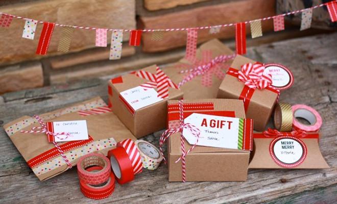 kerstcadeautjes inpakken