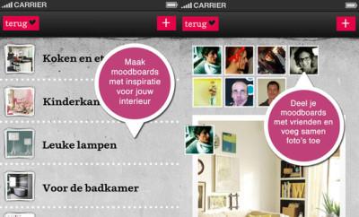 Moodboards maken met VT Wonen app