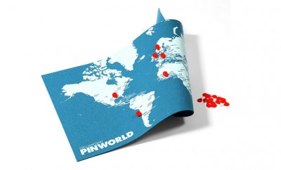 Pinworld Wereldkaart