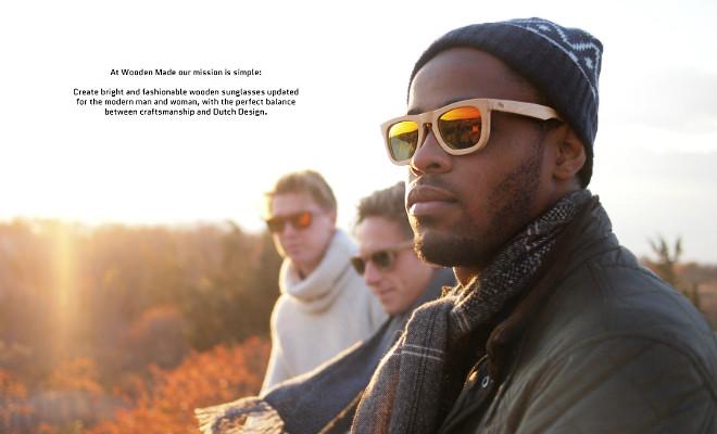 Houten zonnebrillen